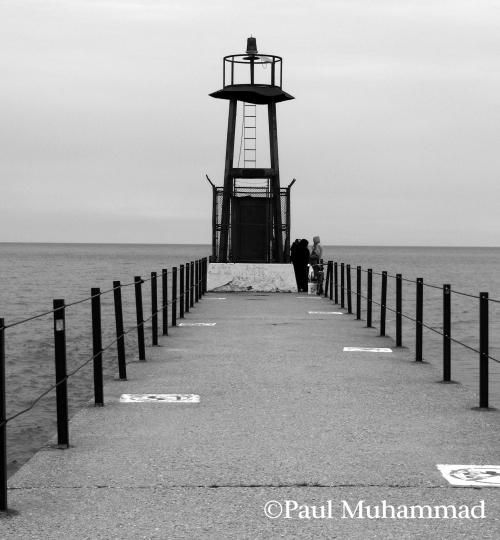 Photograph: Close up of lighthouse on pier